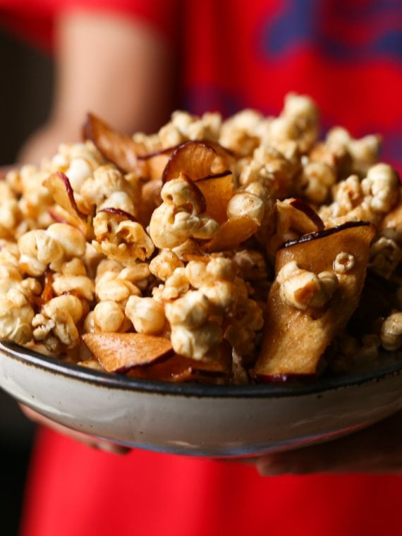Image of Caramel Apple Popcorn in a Bowl