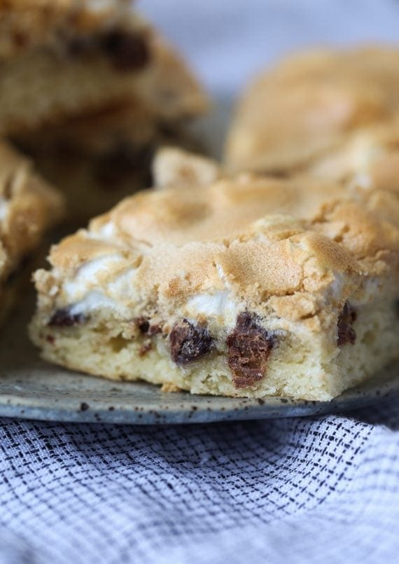 Mud Hen Bars... chewy, ooey, gooey bars with a crunchy brown sugar meringue topping!