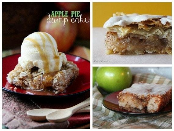Collage of Apple dump cake
