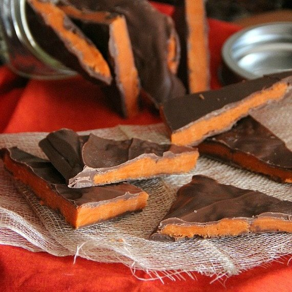 Cookies and Cups Homemade Butterfinger Bark