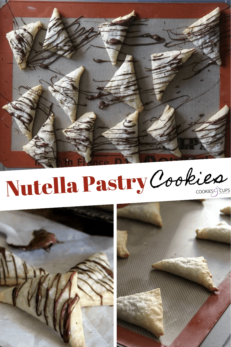 Pinterest Image for Nutella Pastry Cookies