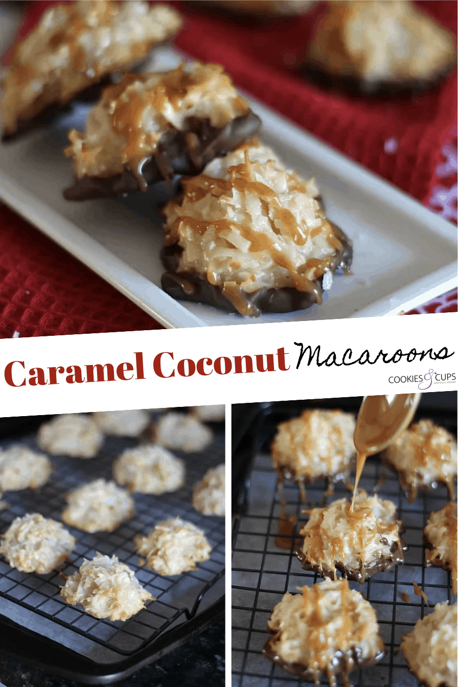 Pinterest Image for Caramel Coconut Macaroons