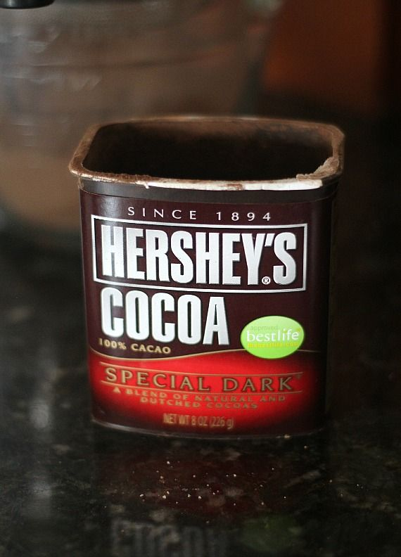 A container of Hershey's Special Dark cocoa powder