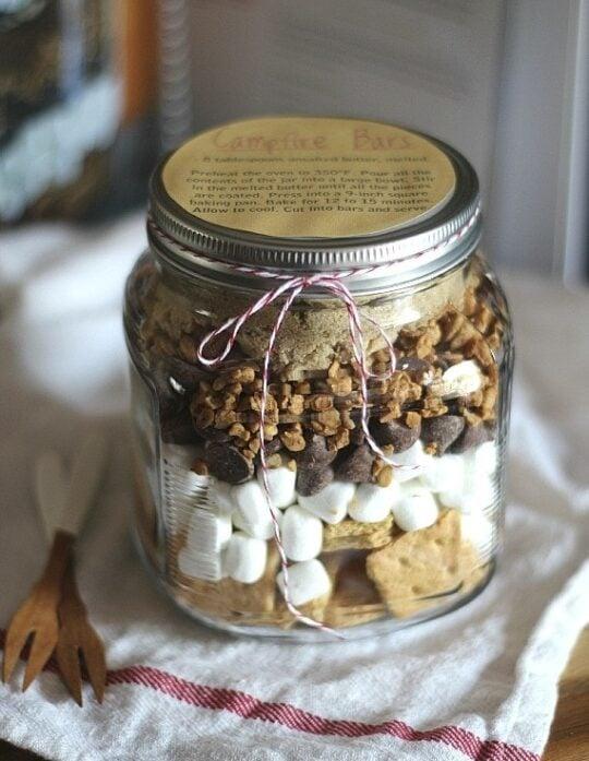 Campfire Bars In a JAR! Great Gift idea!!