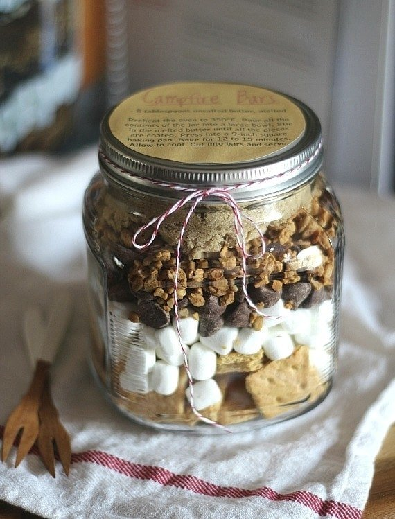 Campfire Bars In a JAR! Great Gift idea!!