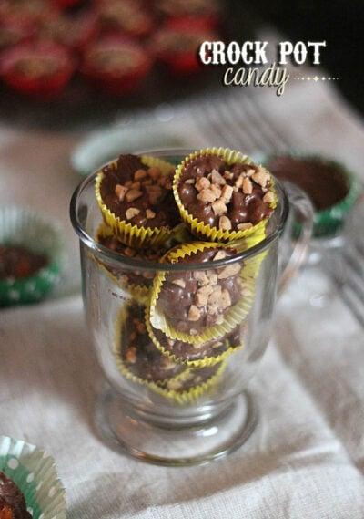 Чашка мультиварки шоколадные конфеты в обертках
