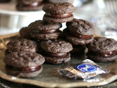 Peppermint Patty Sandwich Cookie