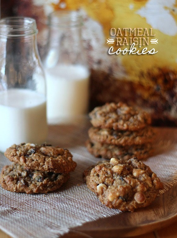 Oatmeal Raisin Cookies | Cookies and Cups