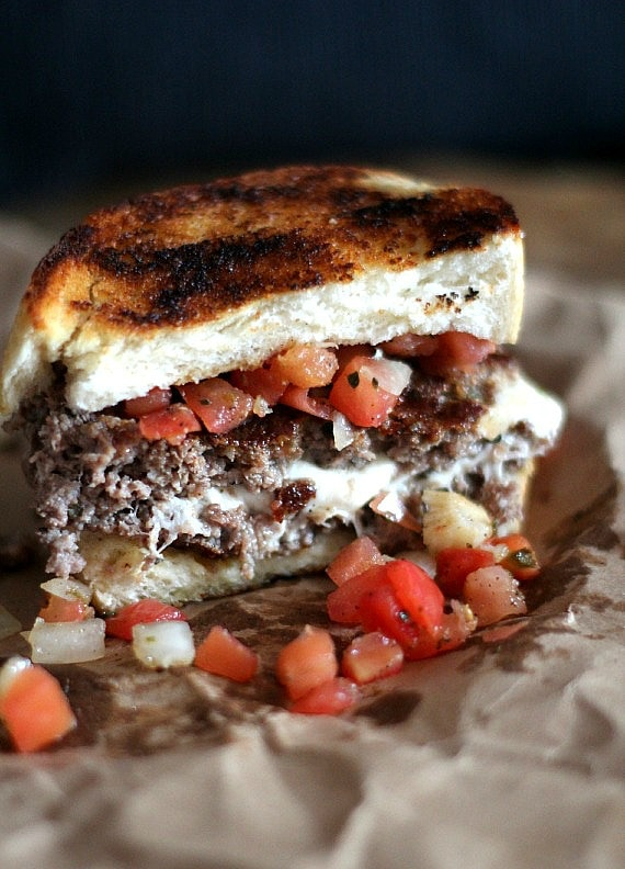 Bruschetta Burger | Cokies and Cups for Food Fanatic