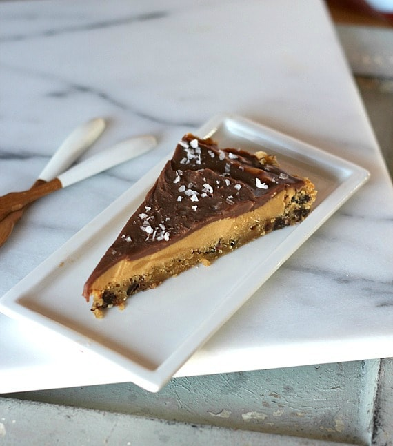 Chocolate Chip Cookie Peanut Butter Tart | Cookies and Cups