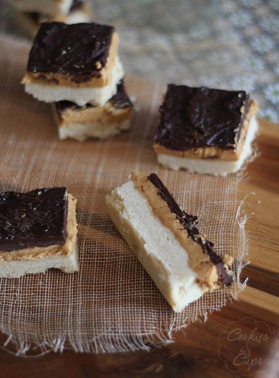 Tagalong Bars | Cookies and Cups