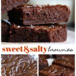 Pinterest Collage for Sweet and Salty Brownies