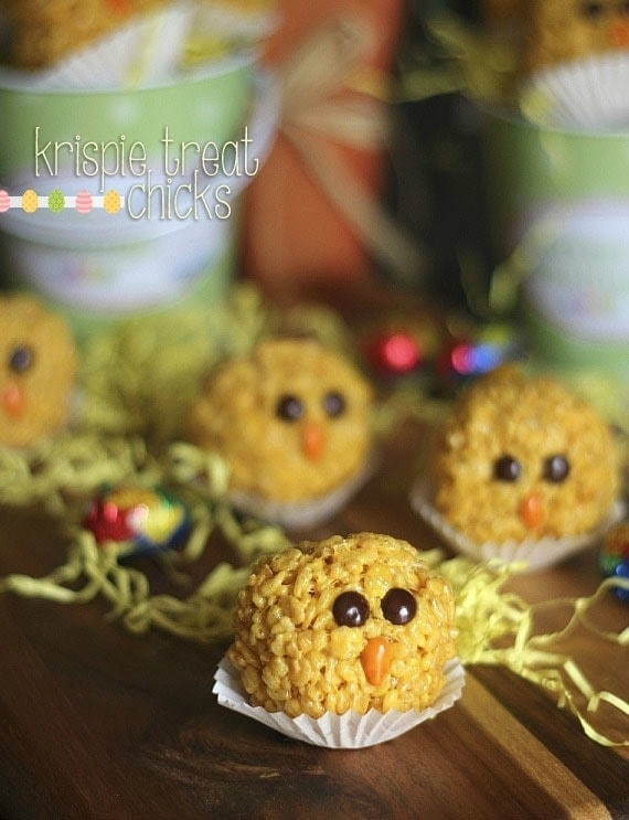 Image of krispie treat chicks