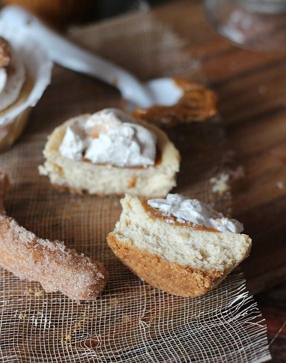 Mini Churro Cheesecakes   Cookies and Cups