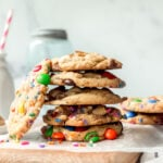 Stack of Cookies made with the perfect cookie base <a href=