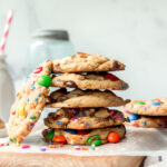 Stack of Cookies made with the perfect cookie base recipe