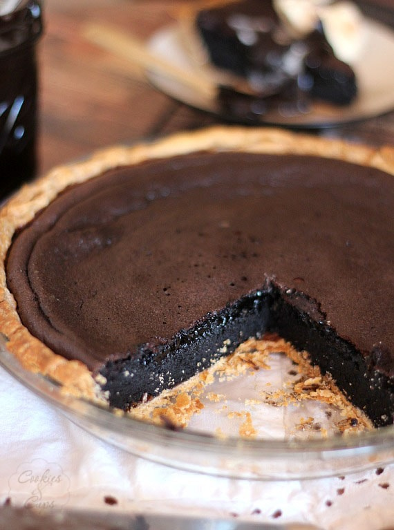 Chocolate Truffle Pie | Cookies and Cups