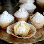 Image of Vanilla Cream Filled Powdered Sugar Muffins