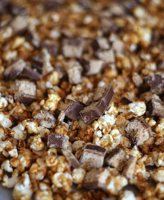 A batch of Whatchamacallit popcorn