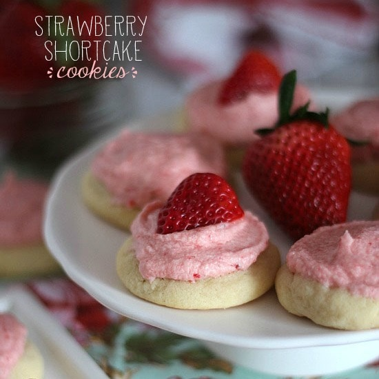 Cookies and Cups Strawberry Shortcake Cookies - Cookies and Cups