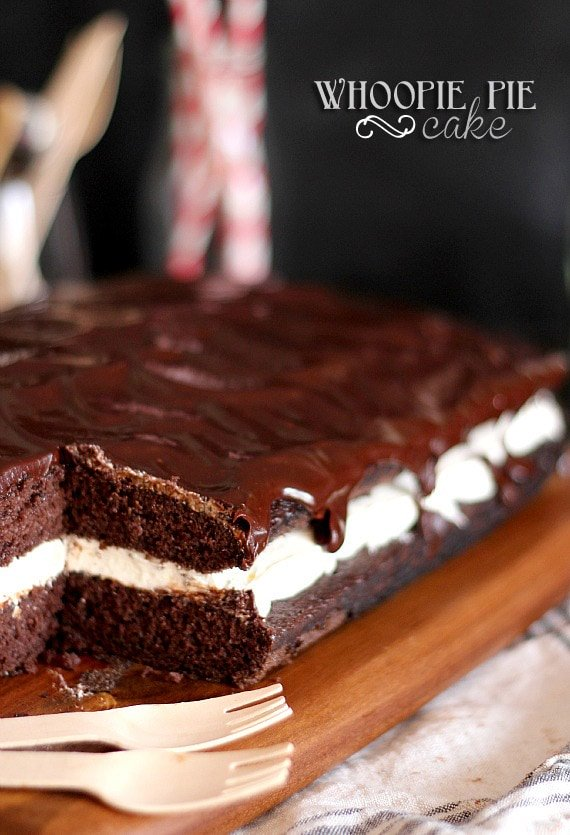 Pan of whoopie pie cake