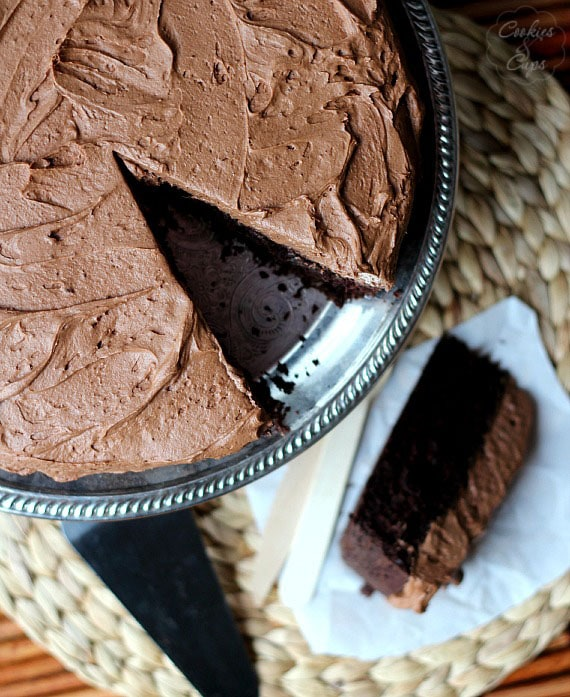 Skillet Chocolate Cake | Cookies and Cups