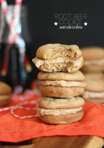 Root Beer Cookie Sandwiches | Cookies and Cups