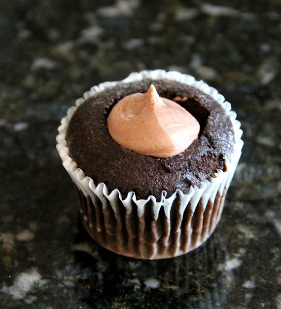 Image of a Blackout Cupcake Before Ganache