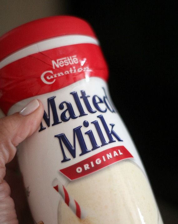 A canister of Nestle Malted Milk