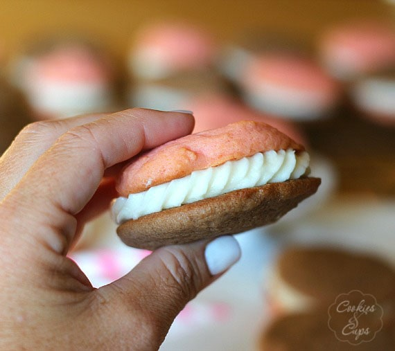Neapolitan Cookie Sandwiches | Cookies and Cups