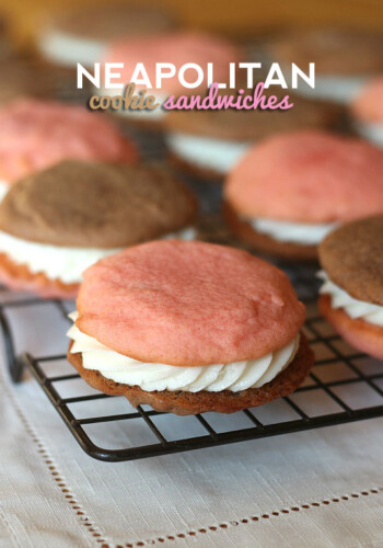 Neapolitan Cookie Sandwich | Cookies and Cups
