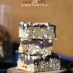 Sweet and Salty No Bake Peanut Butter Bars | Cookies and Cups