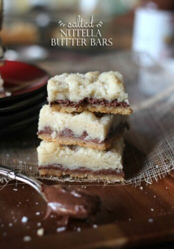 Salted Nutella Butter Bars | Cookies and Cups