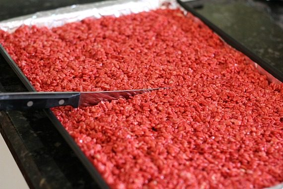 Red Velvet Krispie Treats