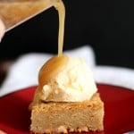 Image of a White Chocolate Maple Blondie with Ice Cream