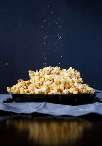 Salted Caramel Popcorn is a delicious caramel corn recipe that is the perfect balance of sweet and salty.