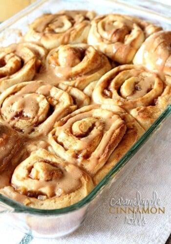 Image of Caramel Apple Cinnamon Rolls
