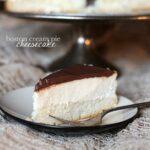 Boston Cream Pie Cheesecake | www.cookiesandcups.com