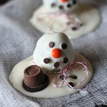 Image of a Melting Snowman Oreo Cookie Ball