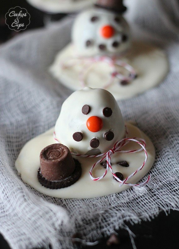 Melting Snowman Oreo Cookie Ball Recipe Cookies And Cups