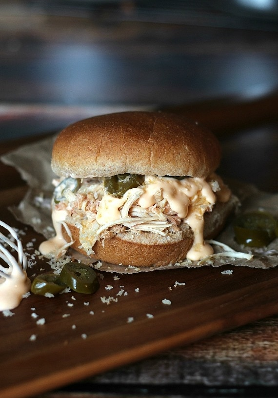 Jalapeno Popper Pulled Chicken Sandwich