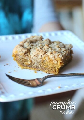 Image of Pumpkin Crumb Cake on a Plate
