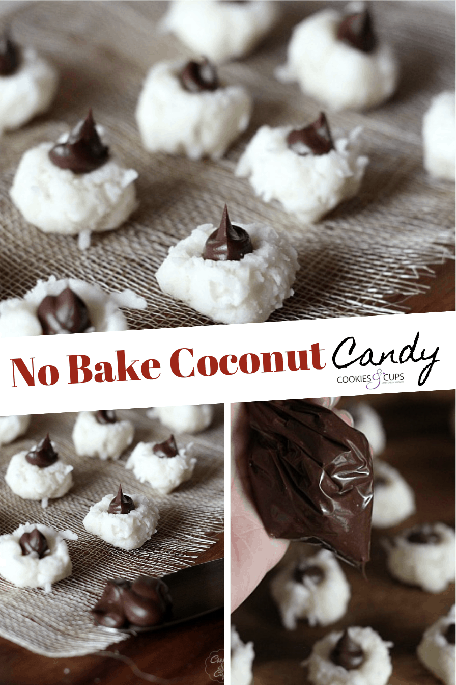 Pinterest Image for No Bake Coconut Candy