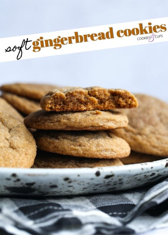 Soft Gingerbread Cookies Pinterest Image