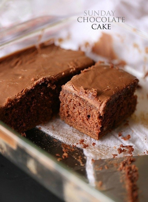 Sunday Chocolate Cake with Boiled Frosting