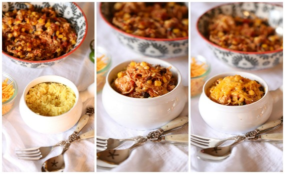 Slow Cooker Fiesta Chicken. Easy, low fat and can be used for so many dinners!   www.cookiesandcups.com
