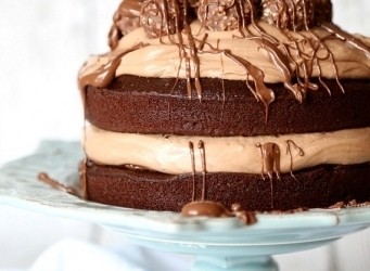 Chocolate Hazelnut Layer Cake. Love it when a cake is as pretty as it is delicious! Starts with a one bowl chocolate cake! www.cookiesandcups.com