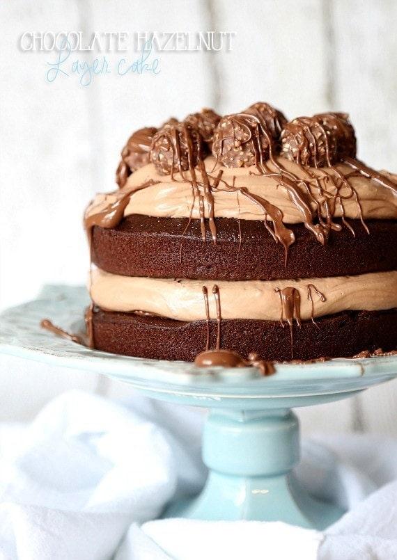 Image of Chocolate Hazelnut Layer Cake