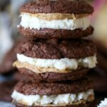 Image of Brownie Cookie Sandwiches, Stacked