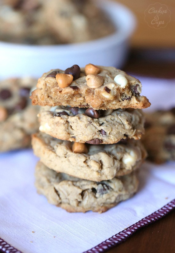 5 Chip Cookies ~ These have five different types of chips packed into one peanut butter cookie!!